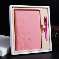 笔记本文具日记记事本礼盒套装可爱创意潮流商务定制礼品