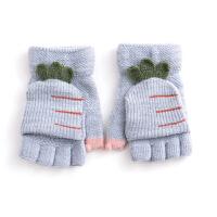 儿童手套秋冬宝宝小孩时尚可爱卡通保暖可爱加绒加厚针织全指手套