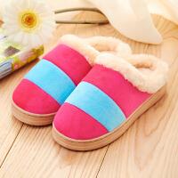 女拖鞋棉拖鞋防滑半包跟鞋月子鞋保暖厚底居家鞋木地板家用毛毛拖鞋