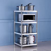 正方形不锈钢厨房置物架落地三层四层收纳架夹缝置物架多层放锅架
