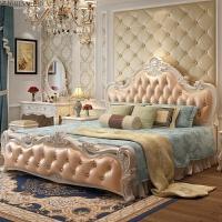 床欧式床公主床主卧套装双人床1.8米婚床组合实木高箱法式床 +1柜+床垫+妆台+衣柜