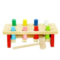 木玩世家全家欢声东击西打桩台 敲打台玩具木制儿童益智敲击台QJH8000