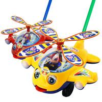 宝宝学步手推车玩具单杆儿童推推乐响铃手推飞机龙虾吐舌头1-3岁