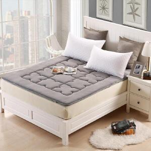 优雅100 加厚榻榻米折叠法兰绒床垫床褥子学生宿舍单双人1.5m 1.8m