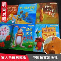 【明盲对照】盲人书籍 暖房子经典绘本系列(第四辑)・欢乐篇全6册 月亮是谁的/再讲一个故事吧/什么时候下雪/不一样的爸