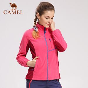 camel骆驼户外抓绒衣 女款防风保暖开衫抓绒衣女