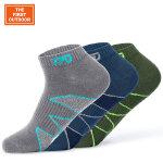 美国第一户外袜子男款3双装低帮旅行袜