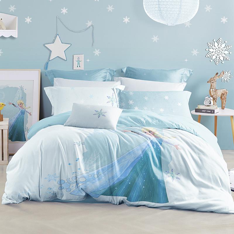 LOVO家纺 迪士尼 全棉纯棉四件套 1.5/1.8米床 卡通床单被套 冰雪奇缘