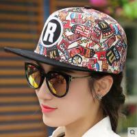 嘻哈帽子男士网红同款时尚花色棒球鸭舌帽 韩国户外运动新品街舞男士平沿帽潮