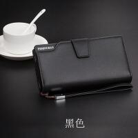 男士钱包长款手抓包拉链皮夹多卡位手机包大容量钱包卡包一体男款