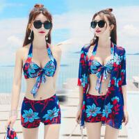 泳衣女三件套 比基尼罩衫 小胸聚拢性感时尚显瘦遮肚裙式韩国泳装