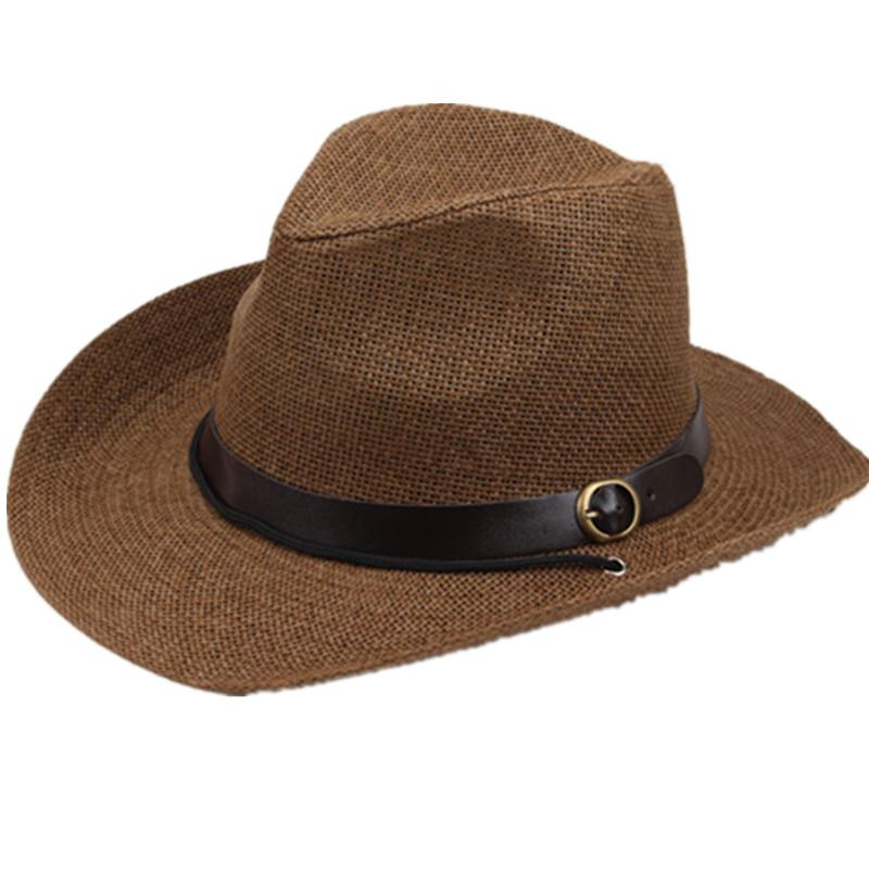 西部牛仔帽子礼帽爵士帽遮阳帽太阳帽草帽沙滩帽男女夏天户外帽子  头围59cm以下可带