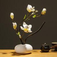 中式玉兰仿真花假花客厅摆设茶几装饰玄关花艺摆件餐桌绢花干花束