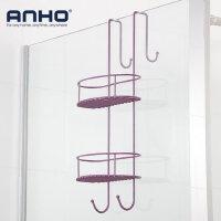 ANHO 卫生间置物架免打孔 浴室化妆品收纳架2层厕所洗手间壁挂
