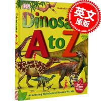 [现货]从A到Z来认识恐龙 英文原版 Dinosaur A to Z 进口儿童书 英文识字 绘本 英语启蒙