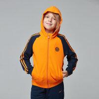 【3件3折到手价:83.7元】鸿星尔克 童装外套大童运动上衣 带帽拉链男童运动服 基础百搭儿童运动上衣