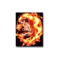 数字油画海贼王 DIY客厅装饰画 动漫定制路飞手绘填色画油彩画 海贼王-1-Q 40X50(2.5CM加厚实木内框)