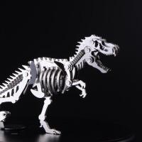 钢魔兽 不锈钢全金属模型 可拆卸拼装 侏罗纪公园恐龙 剑龙成品 霸王龙 三角龙 梁龙