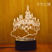3D小夜灯卧室床头创意小台灯插电婴儿睡眠喂奶灯女生个性生日礼物