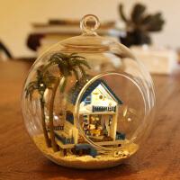 diy小屋手工拼装房子模型创意公主房制作建筑玩具 女孩生日礼物