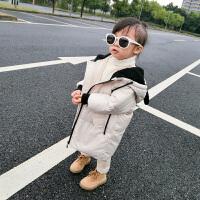 女童装棉衣宝宝加厚手塞棉小童儿童呢子袖夹克男童棉袄外套 白色小熊款