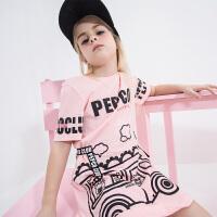 【2件5.5折到手价:60】小猪班纳童装女童连衣裙公主裙2019夏季新款儿童裙子女
