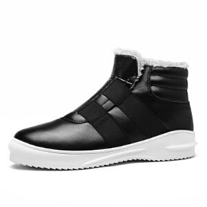 2017新款冬季潮流男鞋子加厚高帮鞋男保暖加绒棉鞋男防滑高帮板鞋