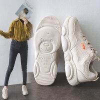 新款学生山本风智熏鞋女 网红透气小熊鞋女 韩版女士休闲运动网鞋