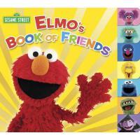 Elmo's Book of Friends (Sesame Street) 英文原版 芝麻街:阿莫和他的朋友们