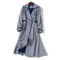 IIX 设计师款 18年早春新品 千鸟格纹 中长款 风衣女 F712A006