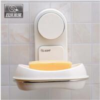双庆魔力吸盘肥皂架吸盘香皂盒 时尚壁挂双层沥水肥皂盒架香皂架壁挂沥水香皂盒创意肥皂架SQ9663