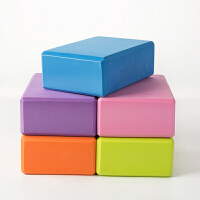 云博瑜伽砖 eva高密度瑜伽块环保体育健身用品瑜伽辅助用品 eva泡沫砖 颜色随机发 均码