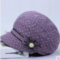 女士鸭舌帽中老年帽子女韩版短檐软布帽子老年人奶奶帽妈妈