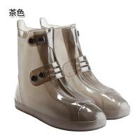 加厚耐磨雨鞋套 户外防水时尚雨靴套 防滑男女透明下雨天防雨鞋套