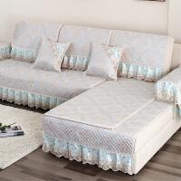 欧式花纹刺绣沙发垫套装亚麻沙发垫套四季