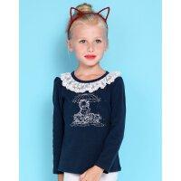 【专区49元2件】加菲猫女童印花T恤长袖套头儿童早秋薄款GUW17550