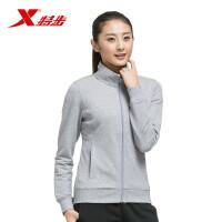 特步女子秋冬新款简约时尚运动针织上衣长袖外套983128061232