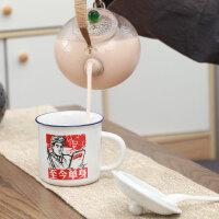 陶瓷语录杯马克水杯茶杯创意咖啡杯带盖勺杯子北欧风家用新潮流