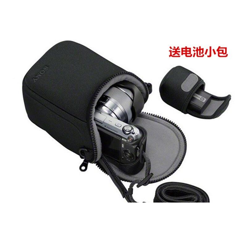 适用于索尼ILCE-6000L 6000 5000 5100 6300 6500微单相机包保护套 SONY标志 黑色 送电池小包 发货周期:一般在付款后2-90天左右发货,具体发货时间请以与客服协商的时间为准
