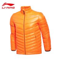 李宁短羽绒服男士运动生活防风透湿轻质保暖冬季90%白鸭绒运动服AYML145
