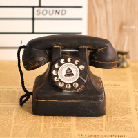复古民国电话机老爷公馆摄影道具 怀旧上海滩家用座机模型摆件摆件创意客厅家居酒吧老式怀旧物