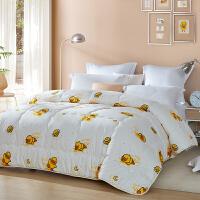 LOVO家纺 小黄鸭被子被芯学生床上用品被褥空调被 小星星纤维被