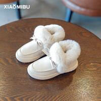 2018新款冬女童防水雪地棉儿童加绒雪地靴宝宝棉鞋公主小童短靴子