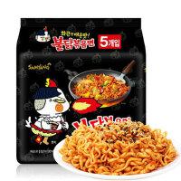 【山东蓬莱馆】韩国进口方便面 三养火鸡面超辣泡面即食干拌面140克*5包,包邮