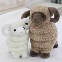 可爱仿真小绵羊公仔玩偶小羊毛绒玩具女生抓机娃娃儿童女孩礼物