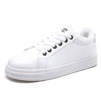 小白鞋女秋冬季新款韩版透气运动鞋百搭平底板鞋皮面跑步鞋子学生女鞋