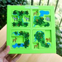 小乖蛋 益智玩具亲子互动桌游森林动物迷宫 智力解题闯关益智拼图