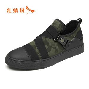 红蜻蜓男鞋2017秋季新款皮鞋时尚潮流板鞋韩版学生单鞋潮男鞋正品
