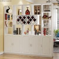 红酒柜玄关柜隔断柜现代简约门厅柜置物架客厅餐厅装饰柜屏风 出口暖白 3抽