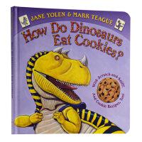 恐龙怎么吃饼干 香味书英文原版How Do Dinosaurs Eat Cookies学乐【送音频】
